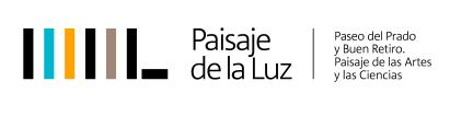 Logo Paisaje de la Luz. Paseo del Prado y Buen Retiro. Paisaje de las Artas y las Ciencias.