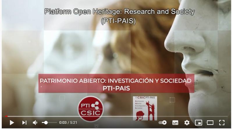 Image of the video presentation of the Platform PTI-PAIS
